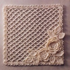 Crochet Square Motif Diagram Pattern Spot Welding Wiring Lace Mesh With Flowers ⋆ Kingdom