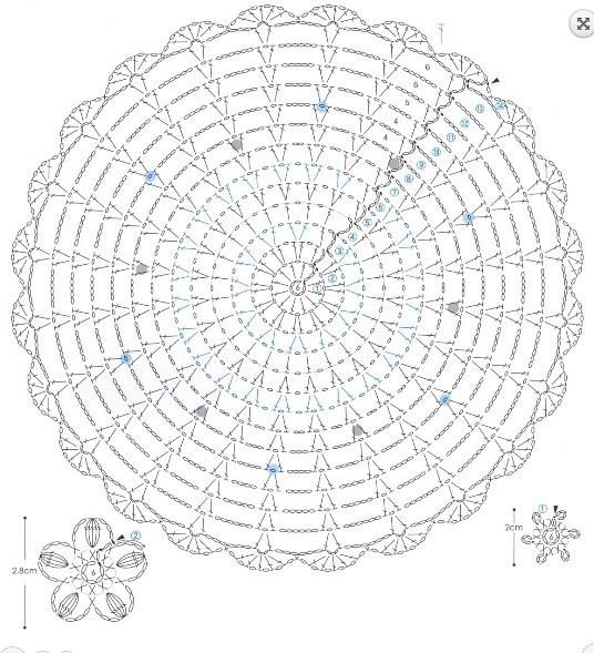 Lace Round Motif with Embellishments ⋆ Crochet Kingdom