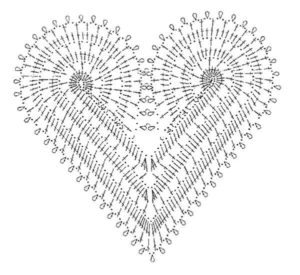 Beautiful Heart Motif Dress Inspiration and Diagram