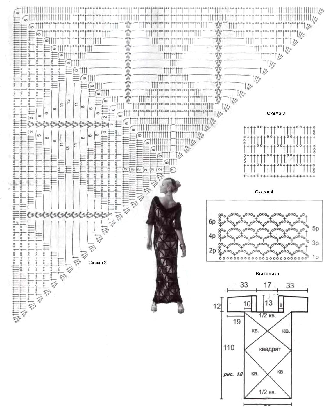 Squares Crochet Lace Dress ⋆ Crochet Kingdom
