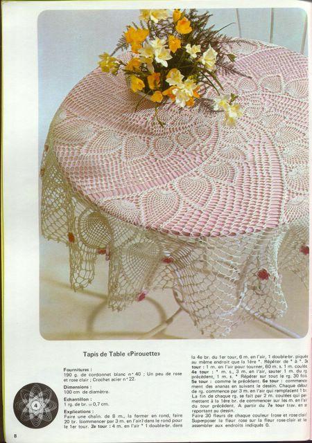 Spiral Pineapple Doily Tablecloth Crochet Pattern