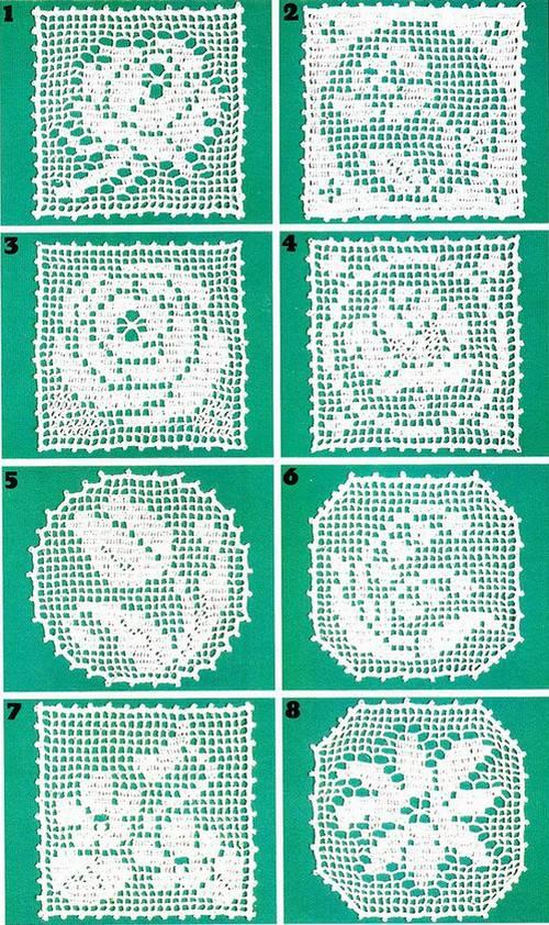 Flower Motif Crochet Napkin Pattern  Crochet Kingdom