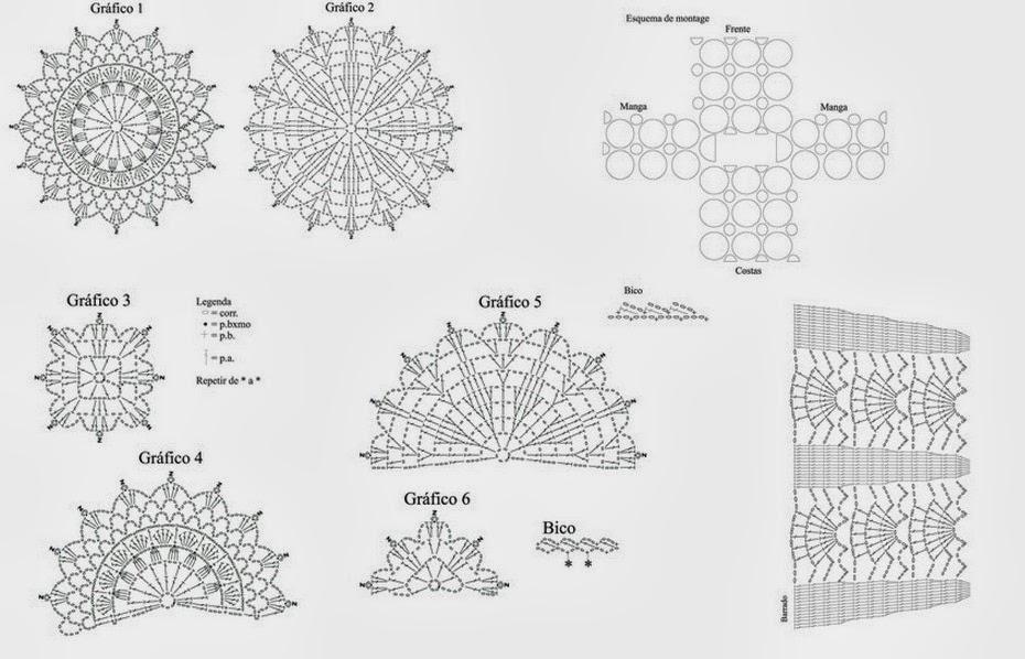 Long Sleeves Circular Motif Crochet Top ⋆ Crochet Kingdom