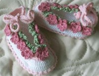 Crochet Pattern - Baby Shoes with Flowers  Crochet Kingdom