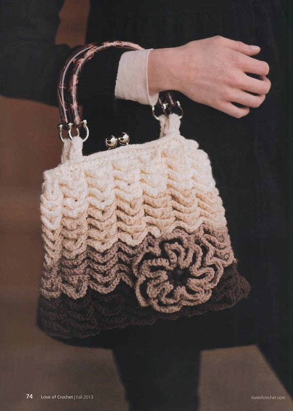 Crocodile Stitch Vintage Styled Handbag Crochet Pattern