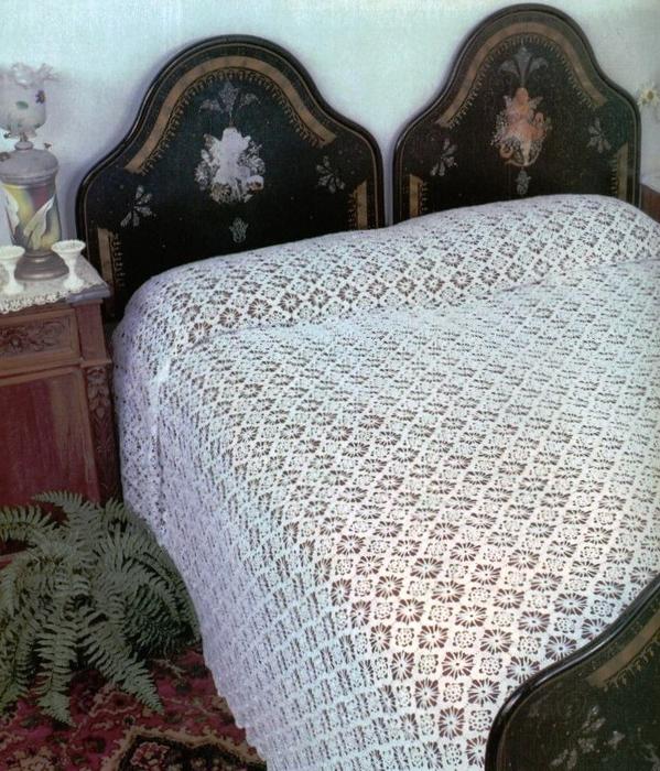 Openwork Veil Lace Crochet Bedspread  Crochet Kingdom