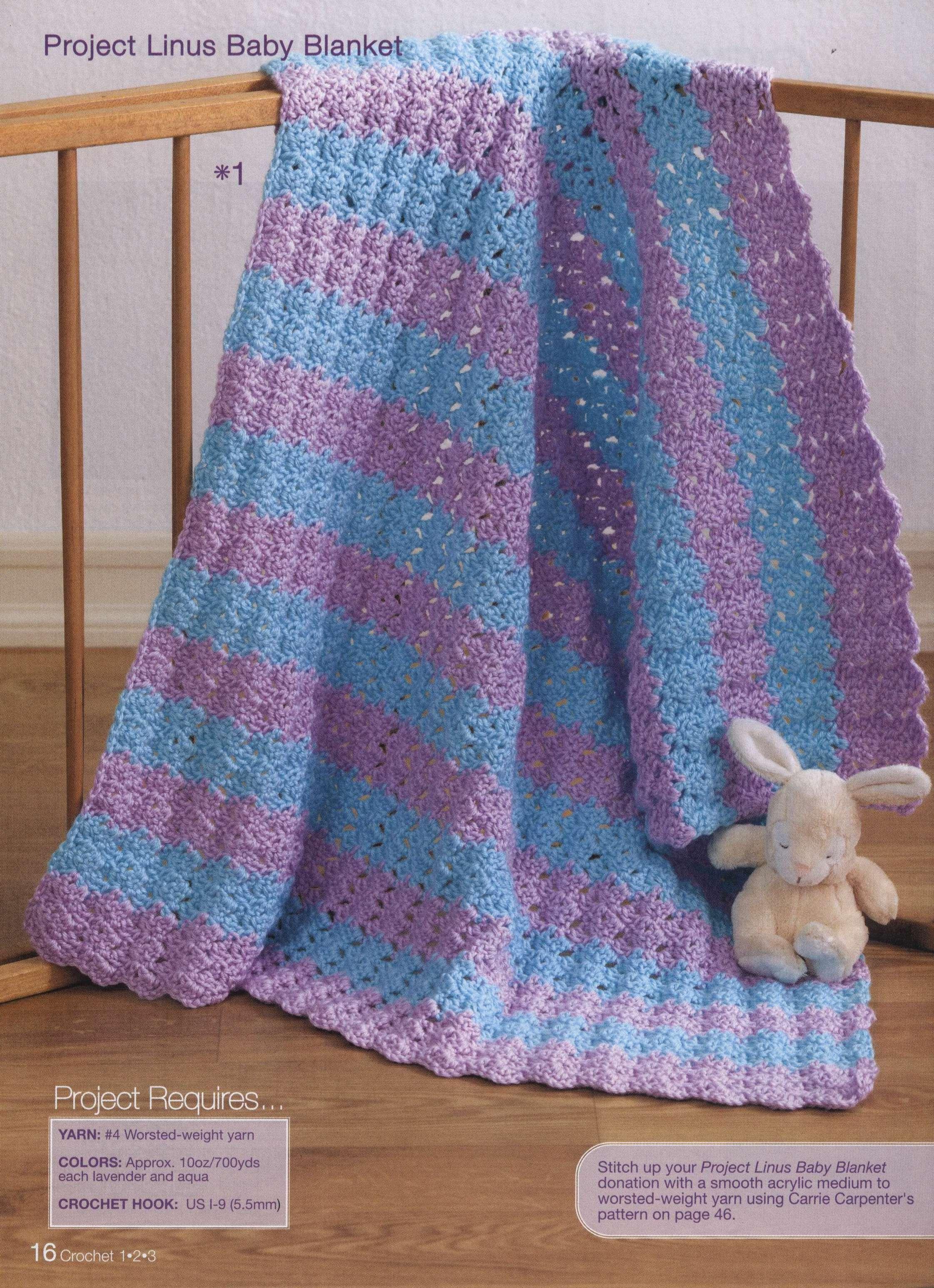 Blue And Purple Baby Blanket Crochet Pattern Crochet Kingdom