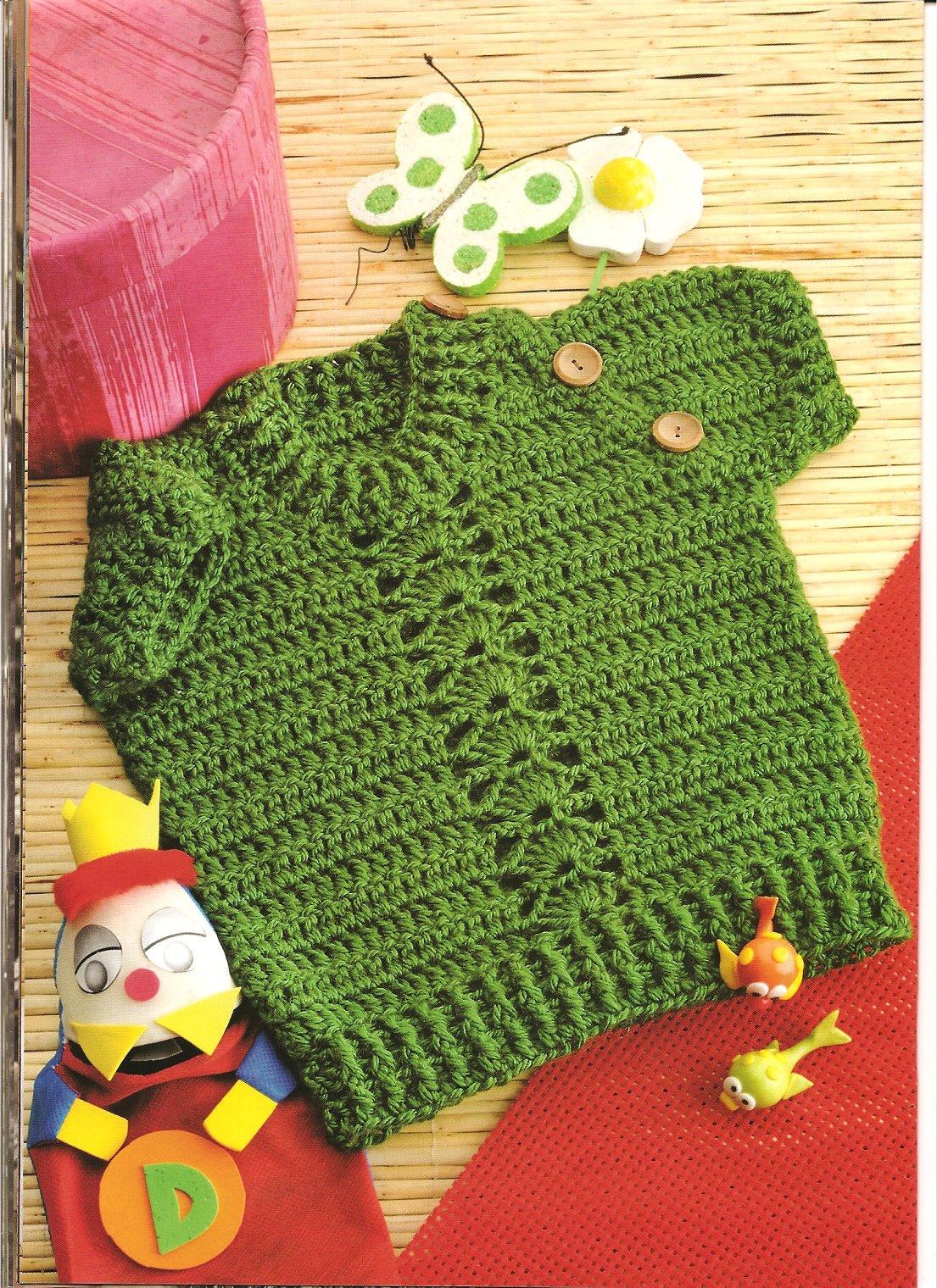 Camisa Verde Ganchillo Patron  Crochet Kingdom