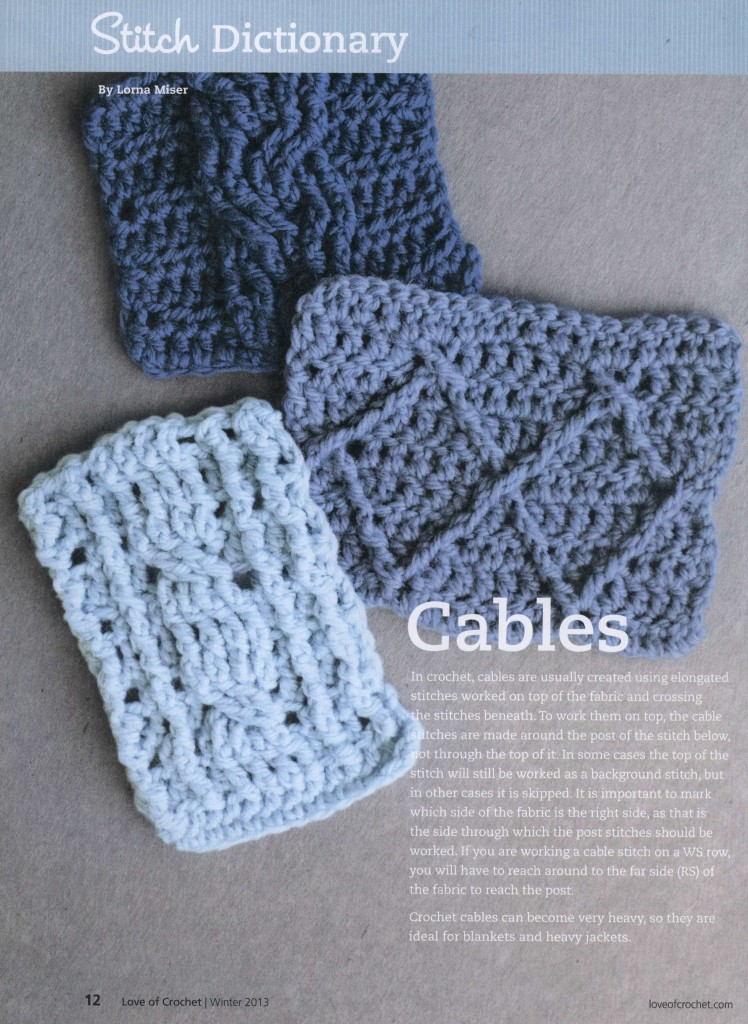 Crochet Cable Stitches ⋆ Crochet Kingdom