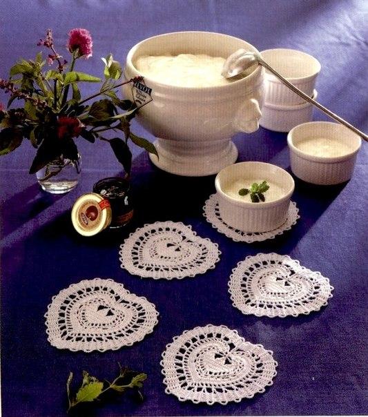 Little Heart Shaped Crochet Coaster Patterns ⋆ Crochet Kingdom