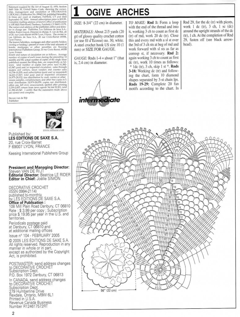 Ogive Arches Crochet Doily Pattern ⋆ Crochet Kingdom