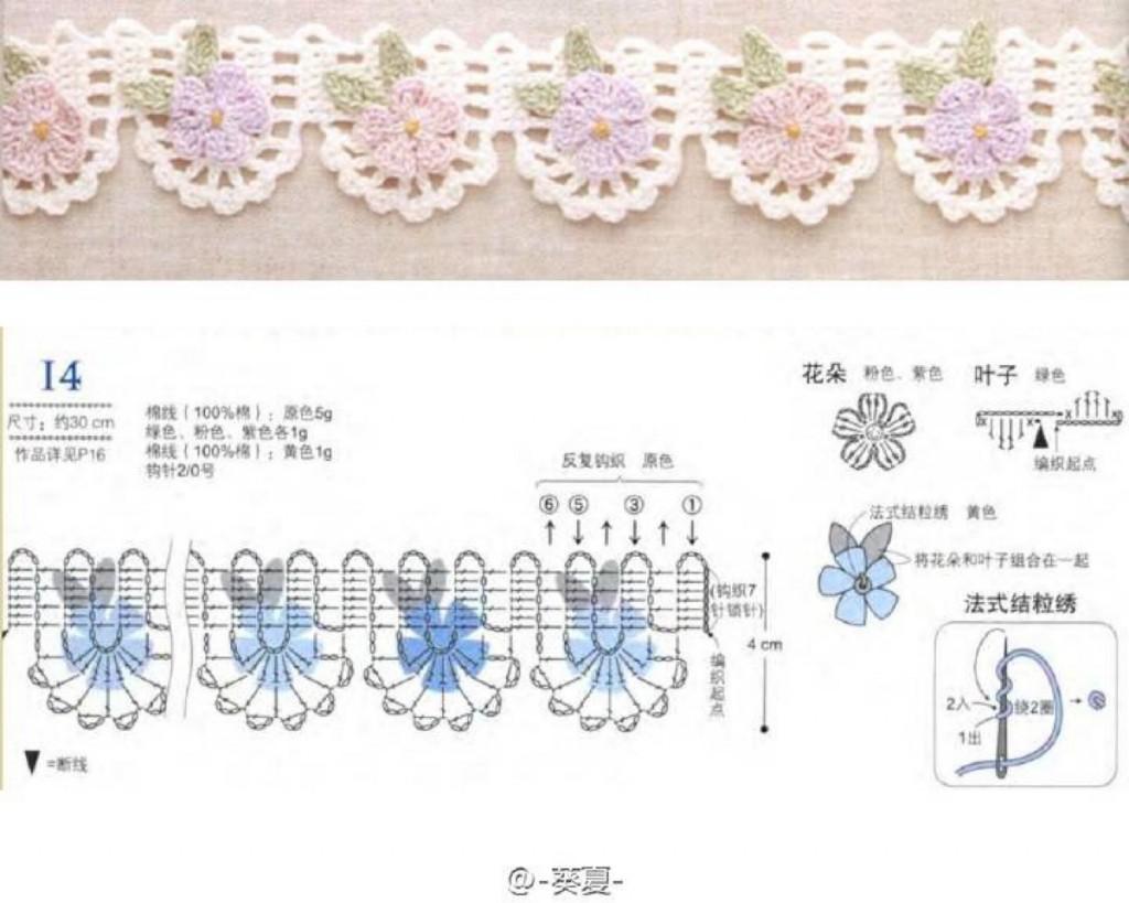 russian lace crochet scarf diagram 97 buick lesabre serpentine belt 6 edges with flowers  kingdom