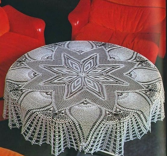 Round Crochet Tablecloth Pattern