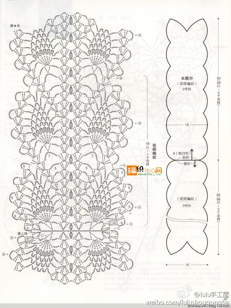 Pineapple flower scarf crochet pattern ⋆ Crochet Kingdom
