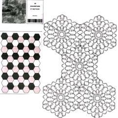 Diagram Crochet Pattern 12 Volt Wiring For Lights Hexagonal Blanket ⋆ Kingdom