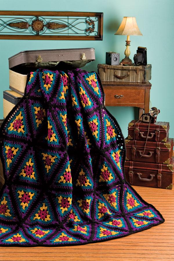 Free Kaleidoscope Afghan Crochet Pattern  Crochet Kingdom