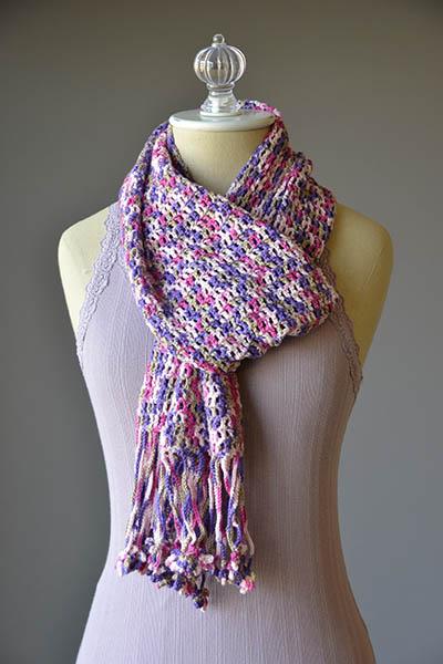 Fun Fringe Scarf Crochet Pattern  Crochet Kingdom