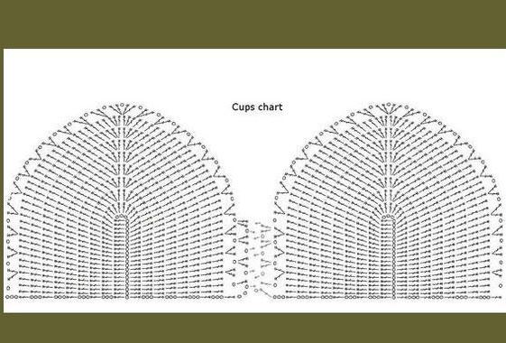 Pineapple Crochet Halter Top Diagram
