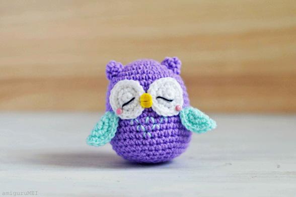 Mr Murasaki Owl Amigurumi Free Crochet Pattern  Crochet