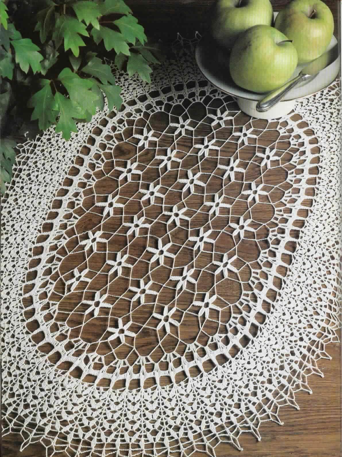 Floral Oval Doily Crochet Pattern  Crochet Kingdom