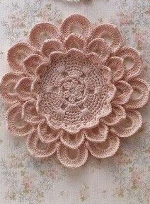 Crochet Flower Doily With Diagram ⋆ Crochet Kingdom