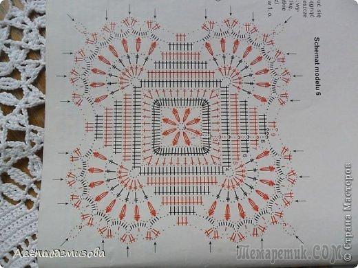 free crochet square pattern diagram 1972 volkswagen super beetle wiring tablecloth motif lace ⋆ kingdom