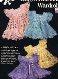 Baby Heirloom Wardrobe 4 Crochet Dress Patterns for Little ...