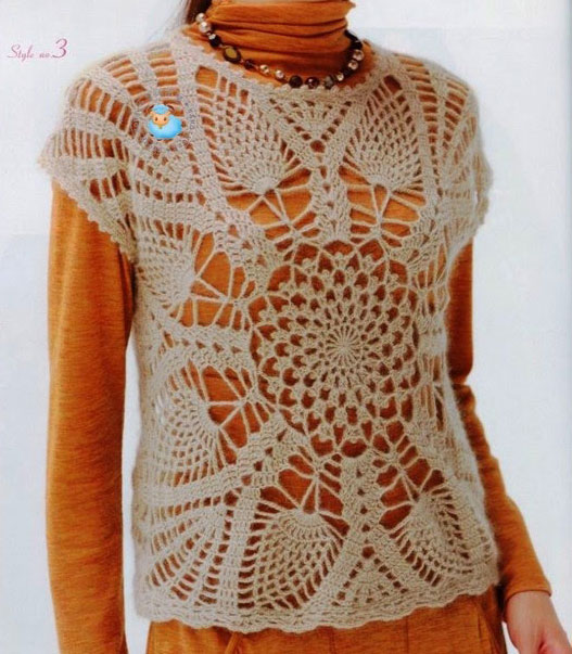 Large Pineapple Mandala Top Crochet Pattern  Crochet Kingdom