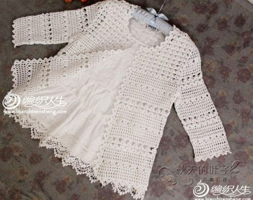 Pretty and feminine crochet cardigan pattern diagram  Crochet Kingdom