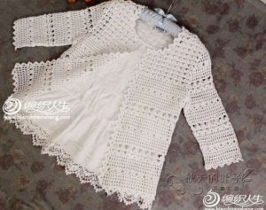 Pretty and feminine crochet cardigan pattern diagram