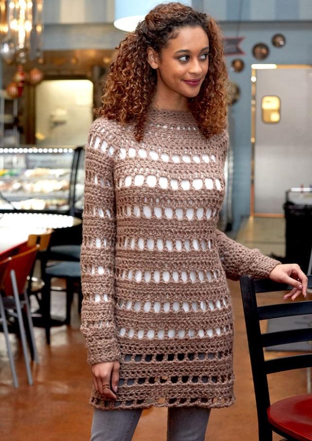 Tanya Tunic Free Crochet Pattern  Crochet Kingdom