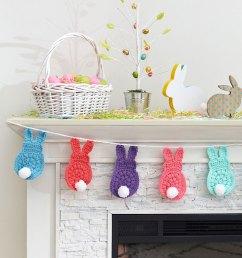bunny garland free easter crochet pattern [ 835 x 1000 Pixel ]