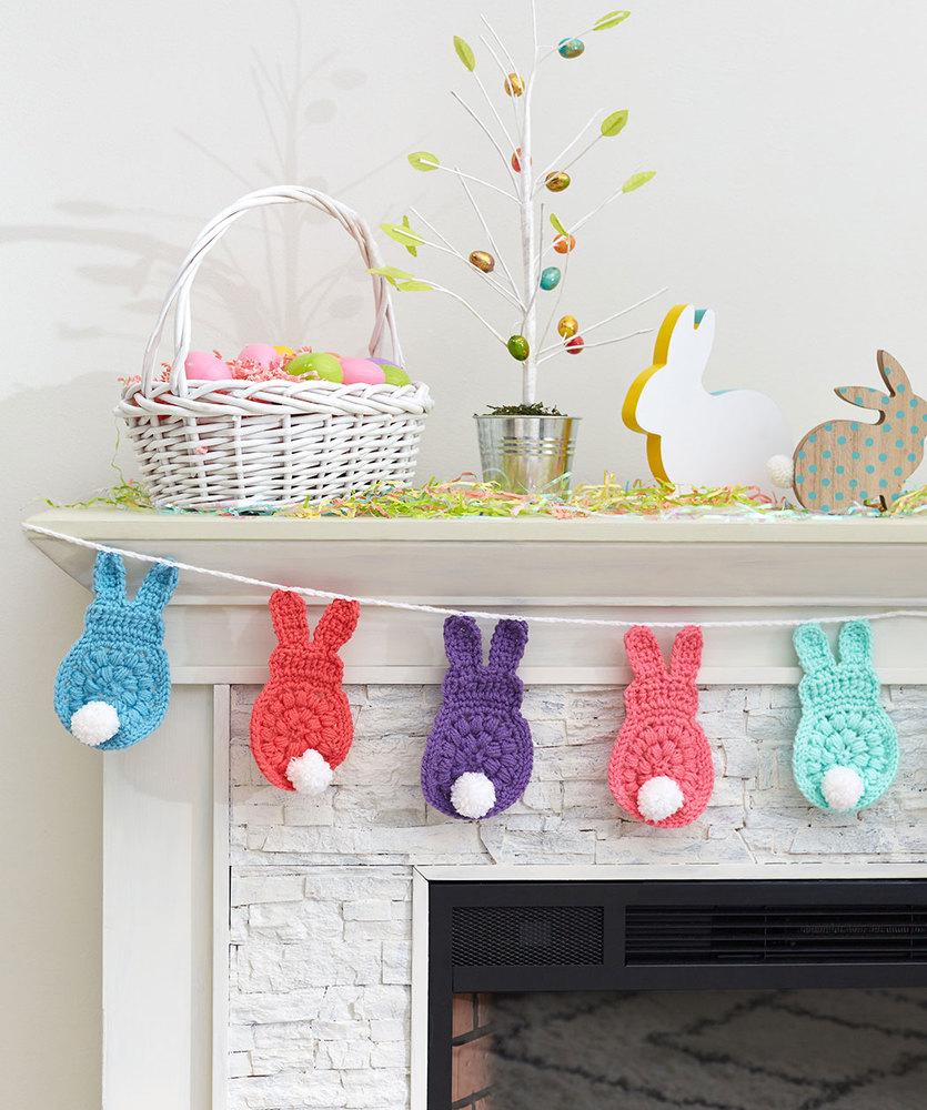 hight resolution of bunny garland free easter crochet pattern
