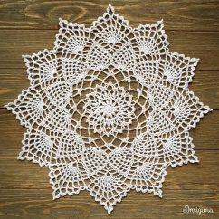 Pineapple Crochet Doily Diagram Wiring A Light Switch From An Outlet Diagrams To Add Receptacle Do It Doilies With Car