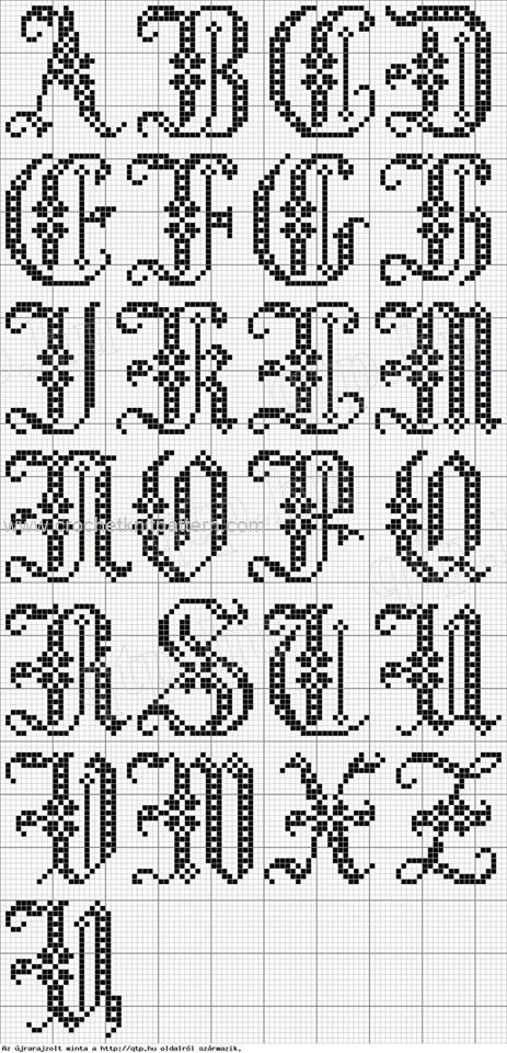 Crochet Letter Patterns  Beautiful Crochet Patterns and
