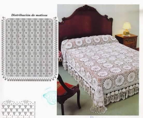 Crochet Bedspread  Beautiful Crochet Patterns and Knitting Patterns