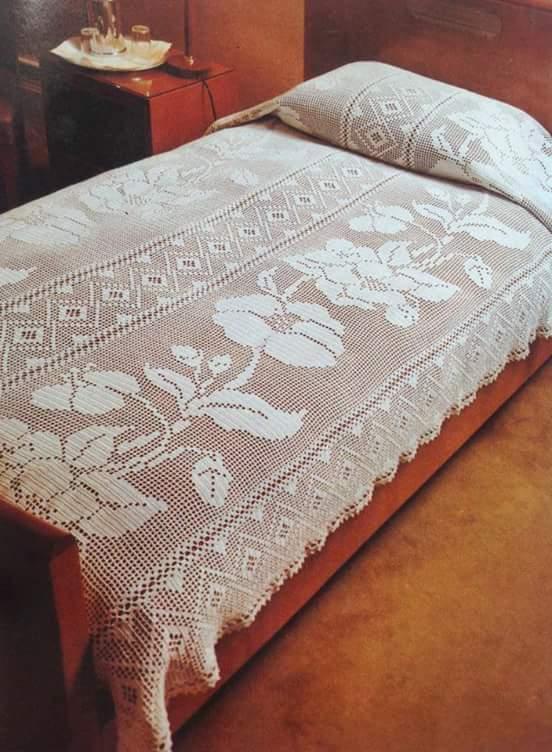 Crochet Bedspread  Beautiful Crochet Patterns and