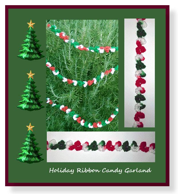 holiday ribbon candy garland