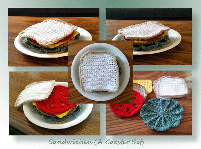 Sandwiched A Coaster Set  Crochet Coaster Patterns