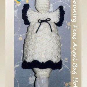 shop.crochetmemories.com Country Fans Angel Bag Holder