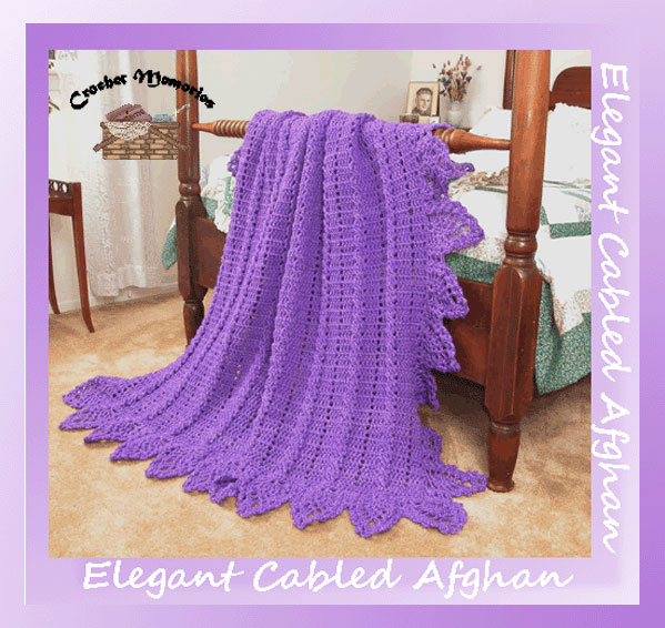 Victorian Elegance crochet pattern Stained Glass Simplicity Afghan