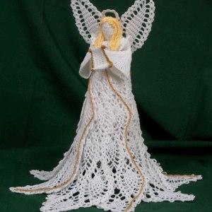 shop.crochetmemories.com - crochet tree top pineapple angel pattern
