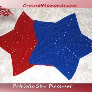 Patriotic Star Placemat