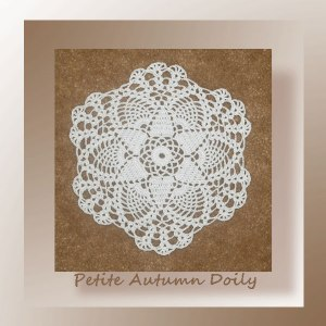 Crochet pattern for a small thread pineapple doily