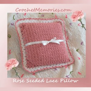 Rose Seeded Lace Pillow