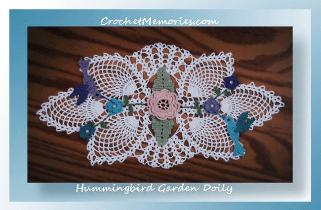 Hummingbird Garden Doily Crochet Doily Patterns