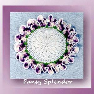 Pansy Splendor Doily
