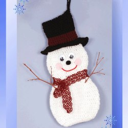 Jolly Snowman Holder