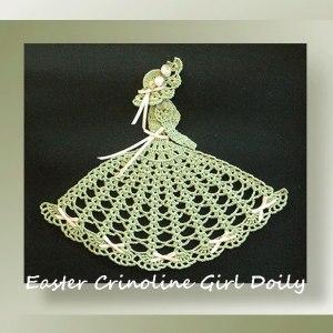 Easter Crinoline Girl Doily