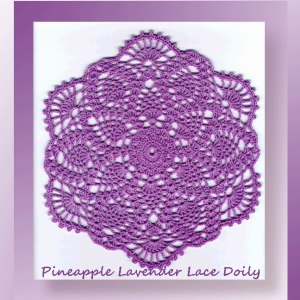 Pineapple Lavender Lace Doily